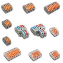 1/3/5/10 pcs/bag 222 Pin-212-218 Mini Fast Wire Connectors Universal Compact Wiring Connector Push-in Terminal Block 2-8P