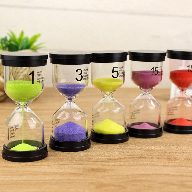Color Random Hourglass 1/3/5/10/15/20 /30 Minutes Timer Minute Sand Watc H Clock Gift Home Decoration Accessories