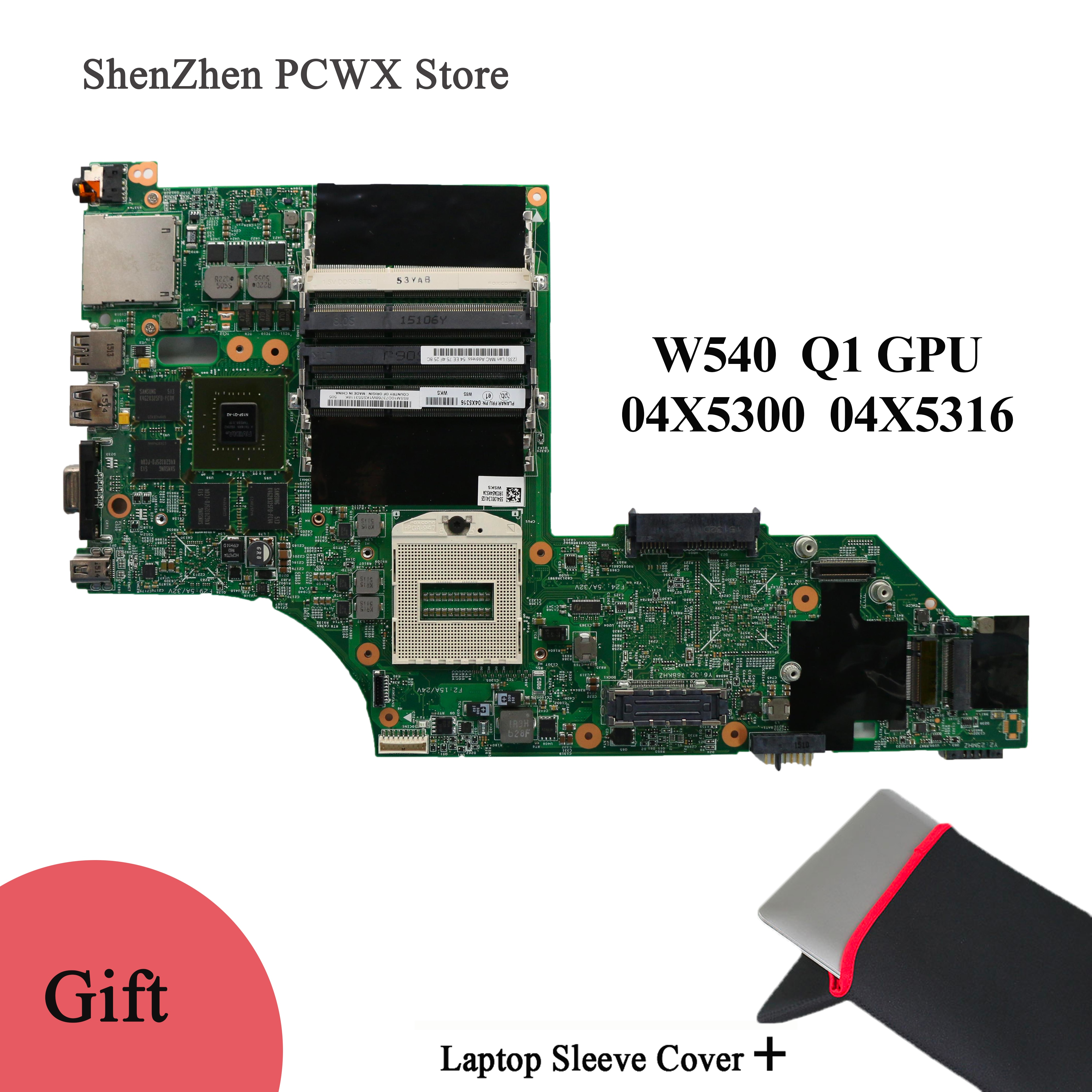 Para Lenovo thinkpad W540 04X5300 04X5316 portátil tarjeta madre de vídeo independiente LKM-1 WS MB 12291-2 48.4LO13.021 con GPU Q1