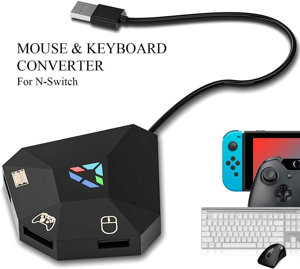 Keyboard and Mouse Adapter for Nintend Switch, Keyboard and Mouse Adapter for PS4, Xbox One, PS3, Xb