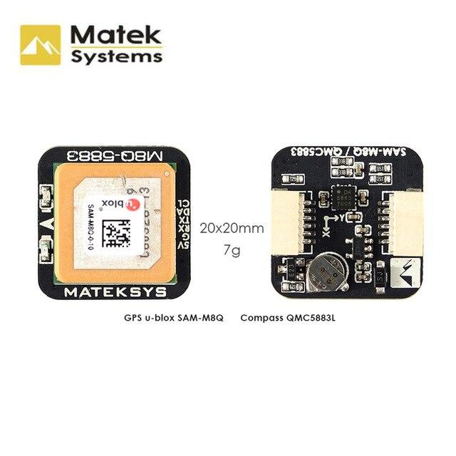 Matek Systems M8Q-5883 SAM-M8Q GPS y QMC5883L brújulas módulo para RC QAV250 X210 Drone FPV Racing modelos