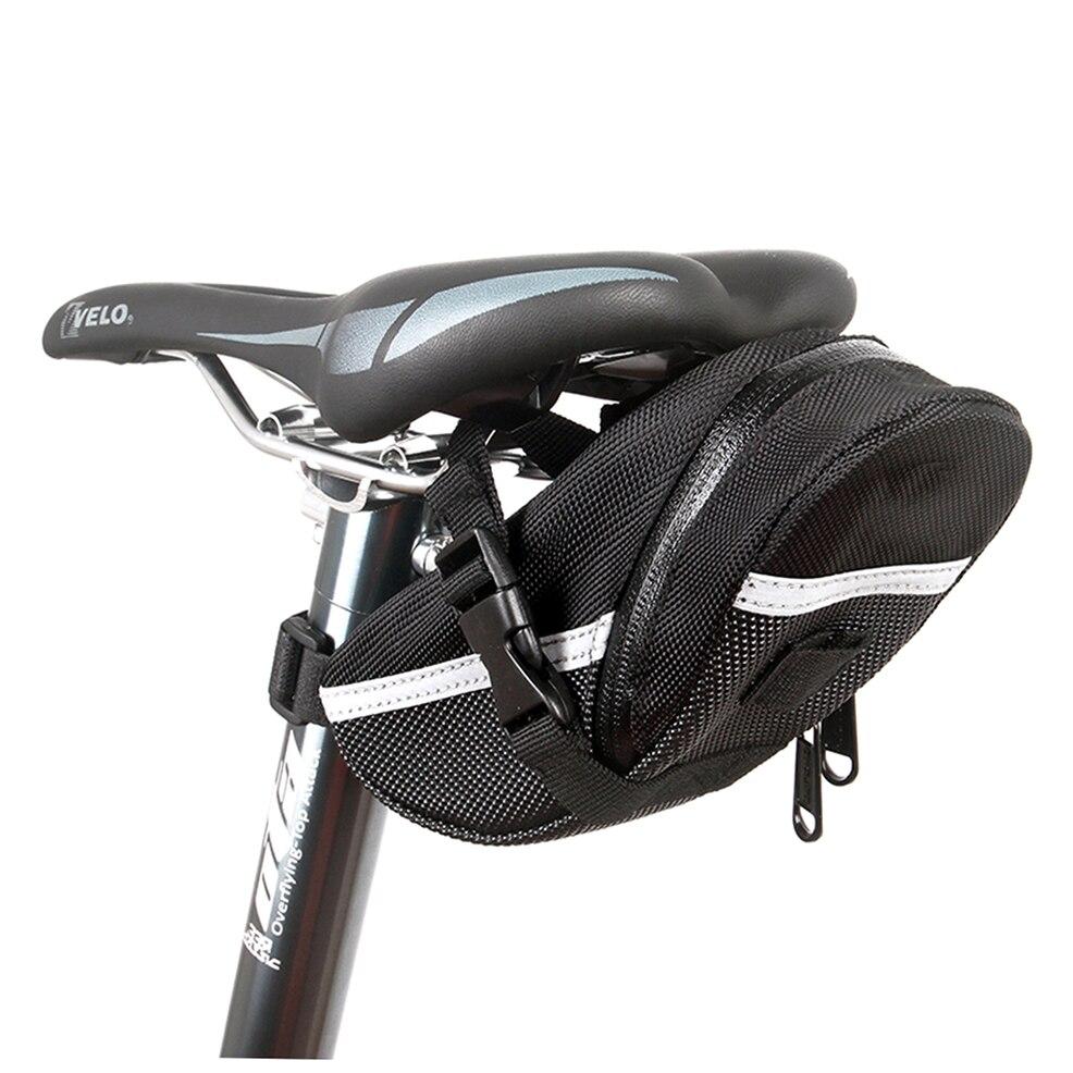 A prueba de agua de Bicicletas Ciclismo MTB Bicicleta de Montaña Asiento Trasero Alforja Bolsa de Bicicletas Cola de Nuevo Pack de Bolsas de Nylon Negro Bolsa de Paquete