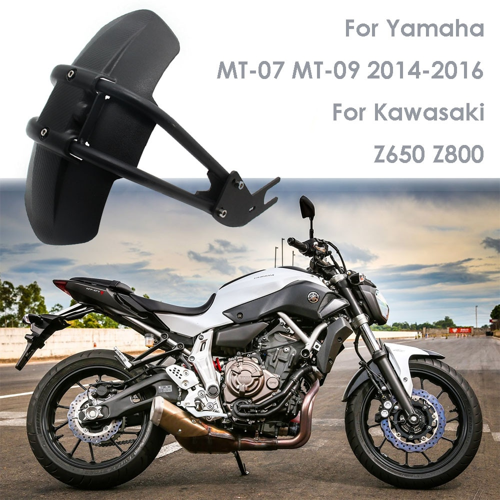 Para yamaha mt07 mt 07 mt09 MT-09 fz250/xjr400/xjr1200/fz1n/fz6 motocicleta fender capa traseira para trás paralama respingo guarda protetor