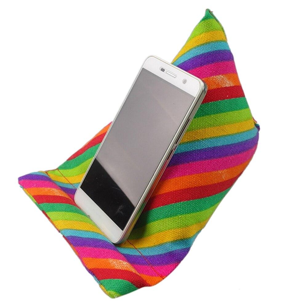 Tragbare Ständer Unterstützung Kissen Tablet Kissen Halter Universal Buch Rest Regenbogen Streifen Bett Multifunktions Handy Leinwand