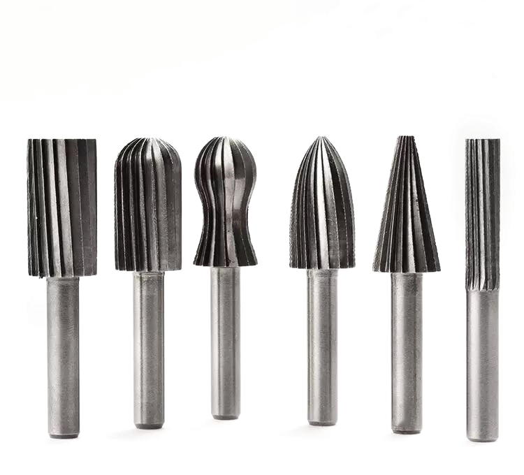 Citop 6pcs/set 6mm Round Shank Grinding Polishing Drill Bit Milling Cutter Electric Rotary Files Grinding Bits for Wood Carving