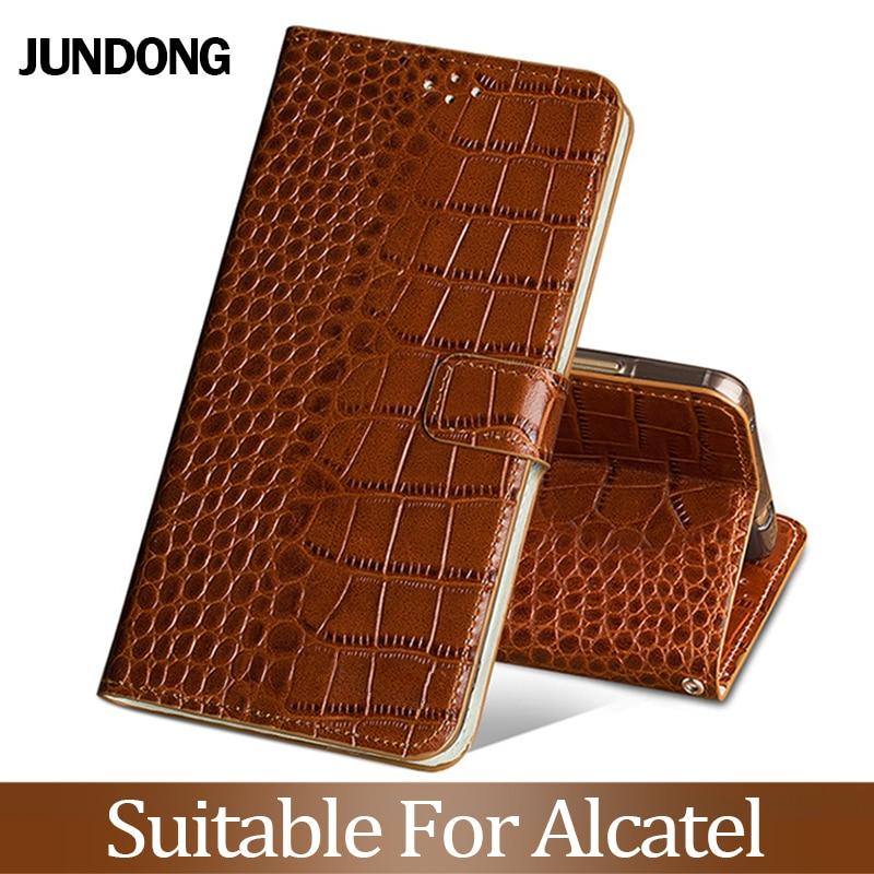 For Alcatel X1 S1 1C 3 3L 2019 A30 7 C7 A7XL Pixi 4 5.0 Case Cowhide Luxury Card Slot Wallet Phone Flip Cover Anti-Knock