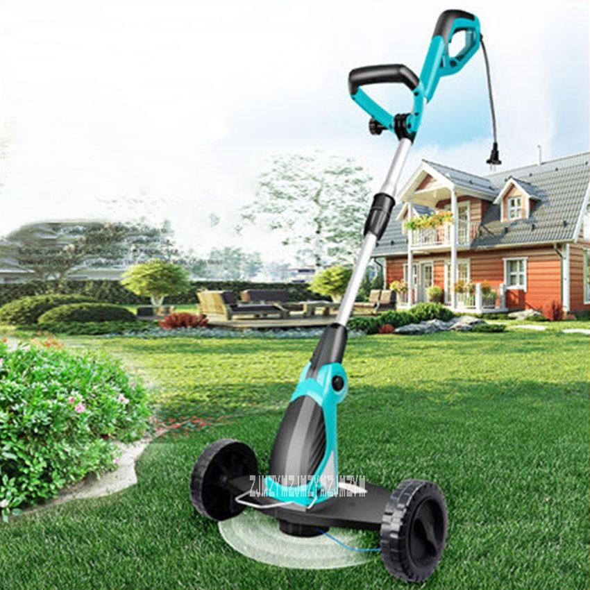 GT650 cortacésped eléctrico, herramientas de jardinería, cortacésped, recortador de césped, tiradores ajustables para el hogar, cortacésped de 220V, 650W, 9000RPM, 330mm