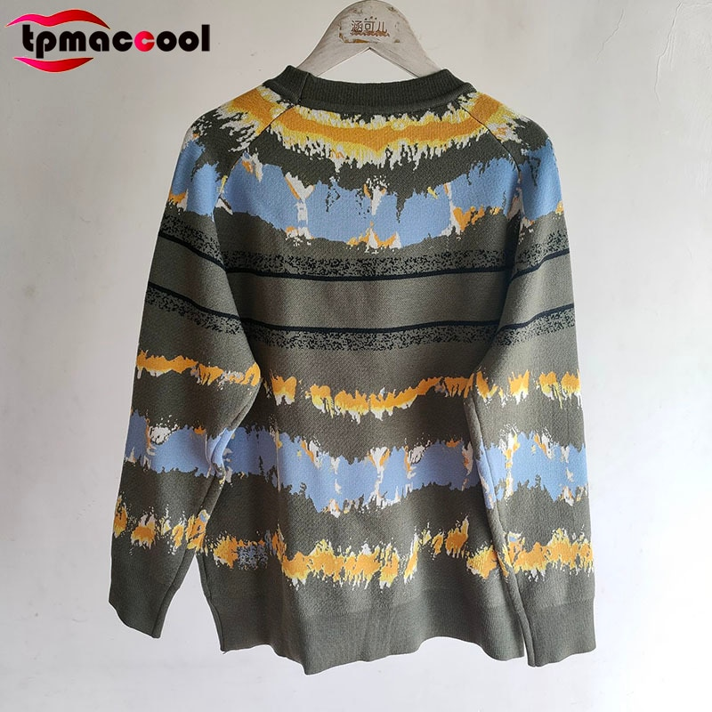 High End 2021 Autumn New Wool women Sweater Letter logoed tie-dyed Jacquard Luxury Temperament Retro Fashion pullovers sweaters enlarge