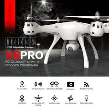 SYMA X8PRO GPS DRON WIFI FPV avec caméra 720P HD caméra réglable drone 6 axes maintien daltitude x8 pro RC quadrirotor RTF
