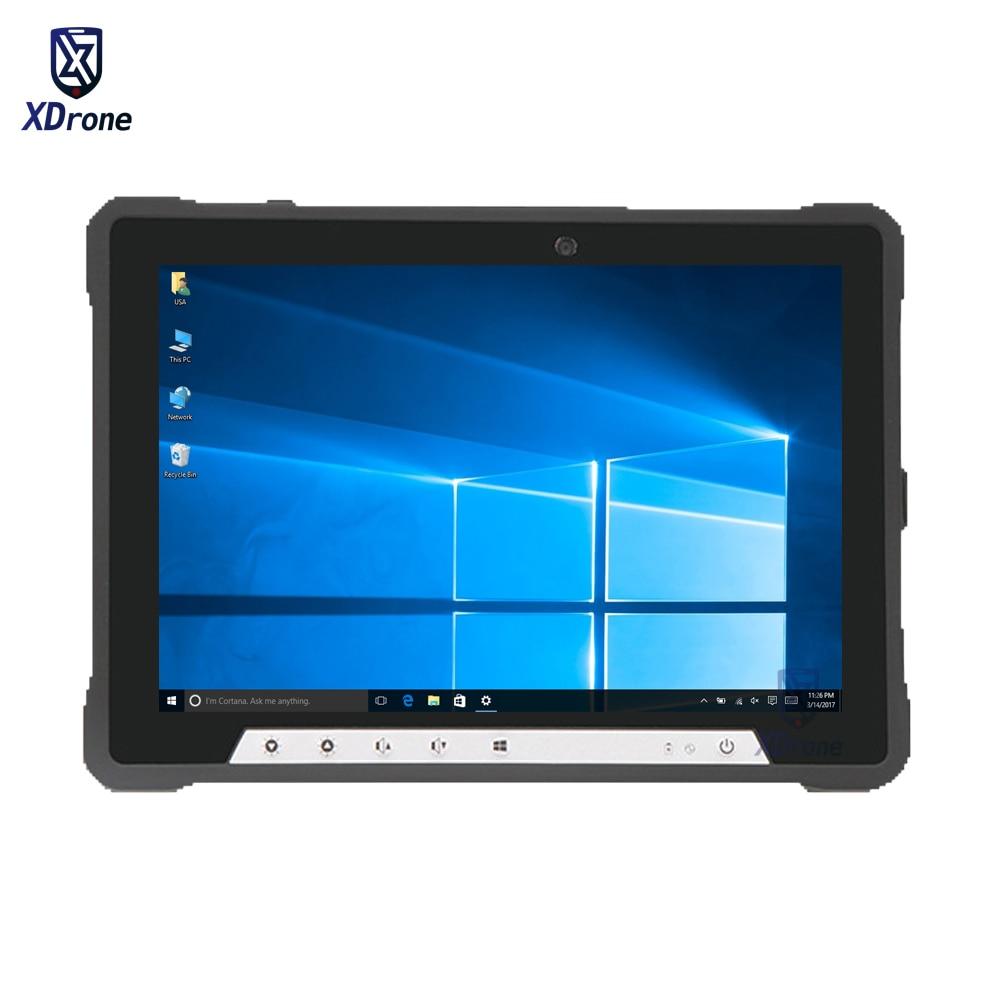"Sin ventilador robusto Windows 10 Home Tablet Industrial PC Linux Intel I3 8GB RAM I7 10,1 ""Pantalla M.2 4G LTE huella digital Stylus RFID"