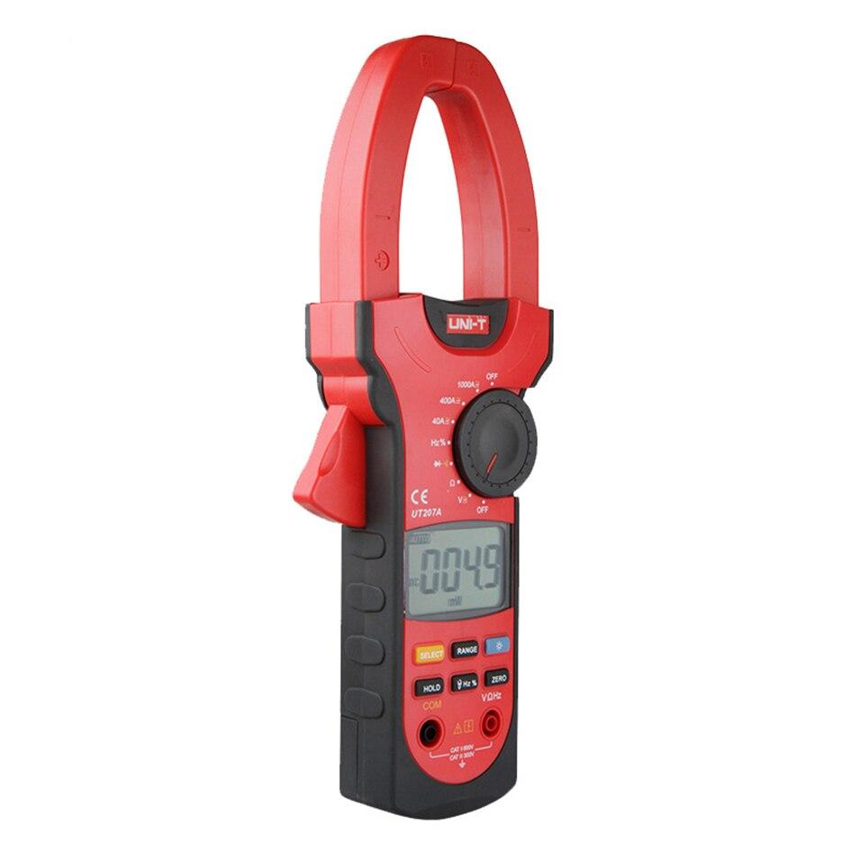 UNI-T UT207A 1000A профессиональные цифровые клещи, измеритель частоты, Мультиметры с автоматическим выбором диапазона, сопротивление