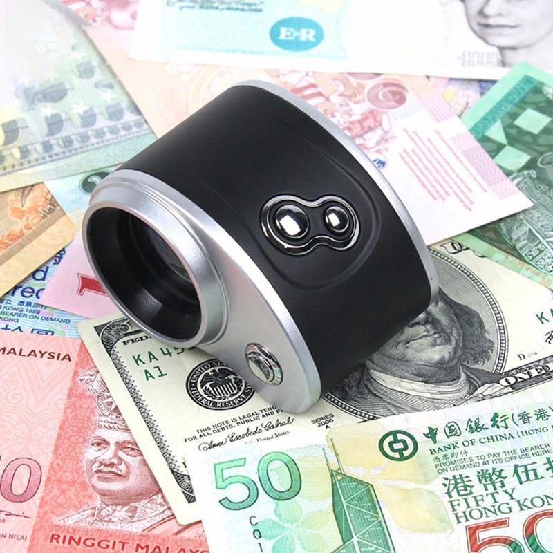 Detector pequeño que colecta sellos/pintura antigua/joyería máquina portátil billetes Detector BILLETES dinero falso Euro moneda UV