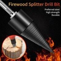 32mm42mm hss firewood splitter drill bit roundhextriangle shank wood split cone drill bit woodworking tools