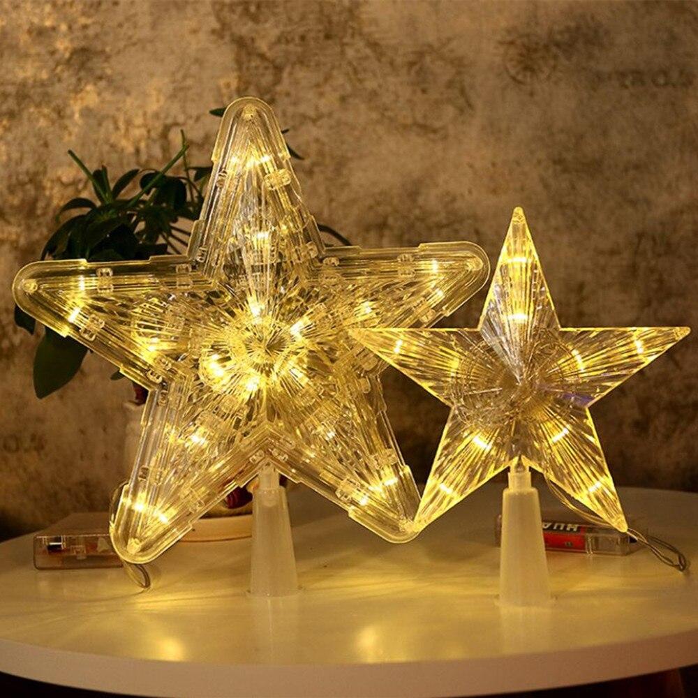 Lámpara LED de estrellas, decoraciones para árboles de navidad para el hogar,...