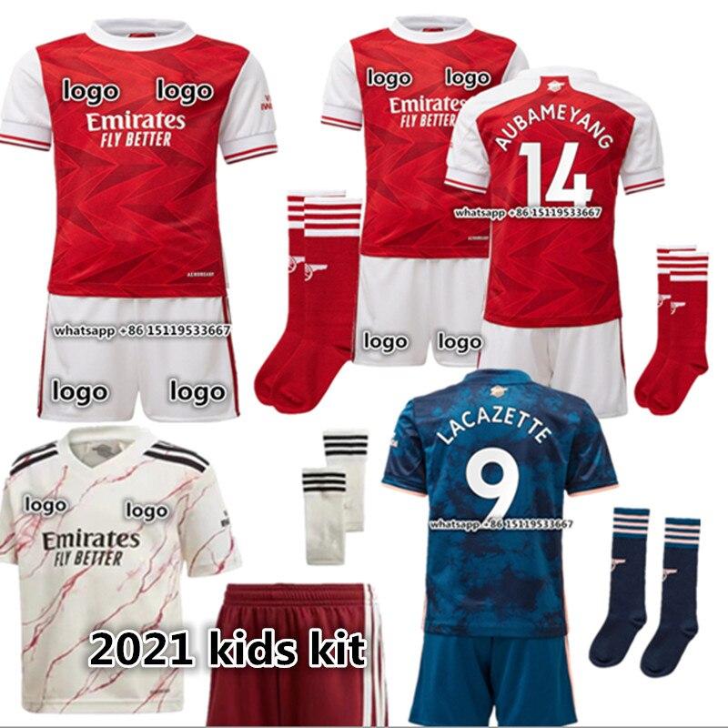 new kids kit Top Quality 0 21 ArsenalES shirt Odegaard BELLERIN SAKS XHAKA AUBAMEYANG OZIL LACAZETTE PEPE THOMAS child shirt
