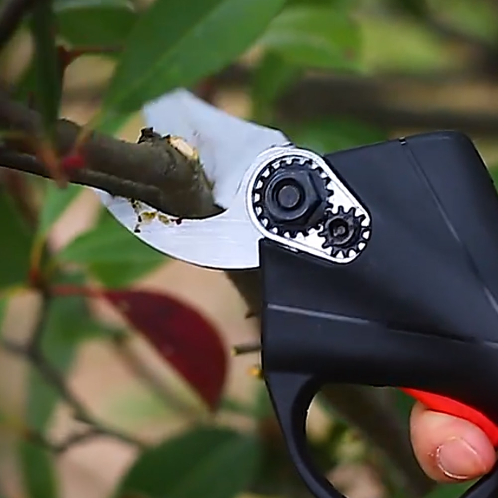 98VF Cordless Electric Pruning Shear Scissor Tree Branch Pruner 30mm Garden Pruner Tool 2pcs Backup Rechargeable Lithium Battery enlarge