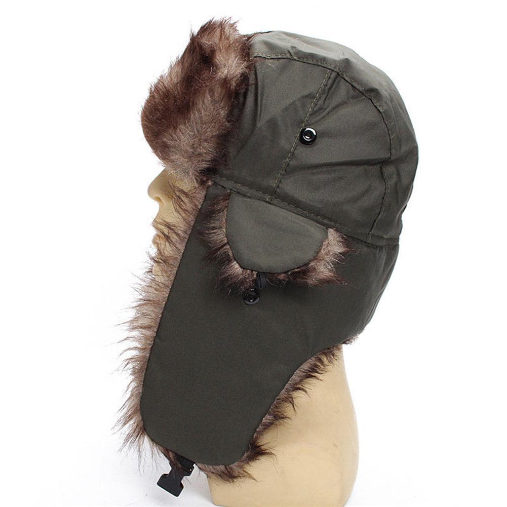 Winter Bomber Hats Men Women Adult Unisex Ski Bomber Hat Winter Windproof Trapper Trooper Earflap Wa