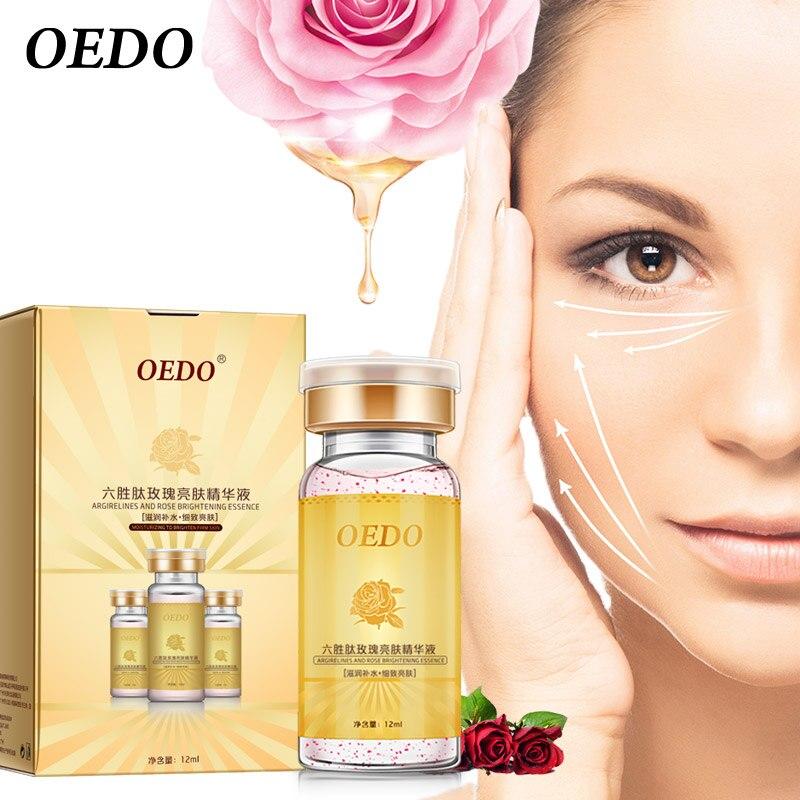 Emulsión de rosa que contiene hexapéptidos suero antienvejecimiento cuidado de la piel blanqueamiento hidratante esencia facial iluminar loción de Reparación DE LA PIEL