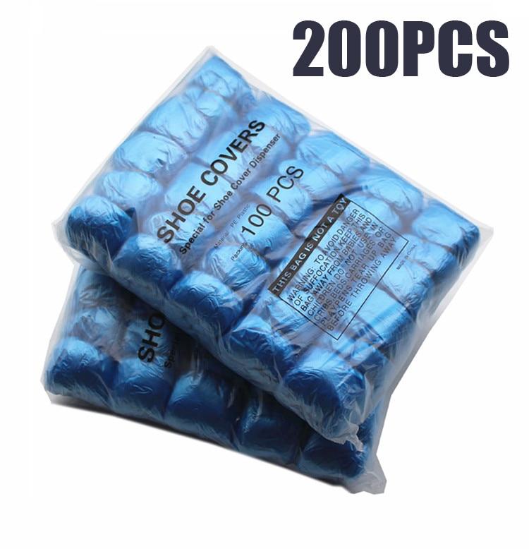 200 pces t fivela pe sapata capa de sapato máquina azul descartável conveniente e confortável modelo casa de alta qualidade capa de sapato