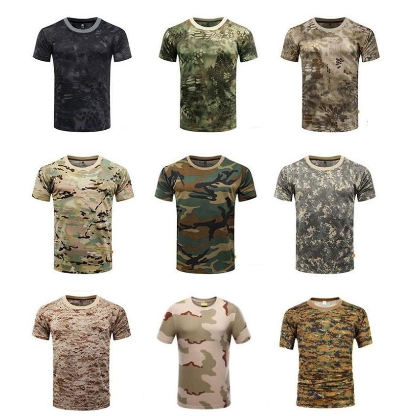 Manga corta ACU camuflaje táctico uniforme militar hombres Airsoft Paintball ropa táctica absorber el sudor camisa de combate militar