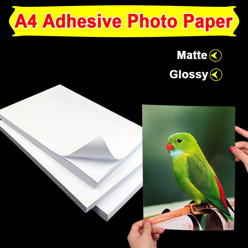 A4 Self Adhesive Photo Paper Matte Or High Glossy Sticker Label By Inkjet Printer 120g 135g