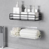 bathroom shelf wall hanging toilet toilet no punching storage toilet hanging basket household washing table iron art