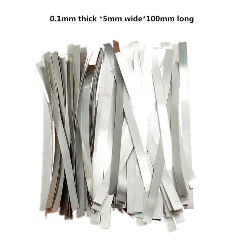 1 sac en acier nickelé bande Nickel sangle feuilles pour 18650 batterie au Lithium Tab 63HF