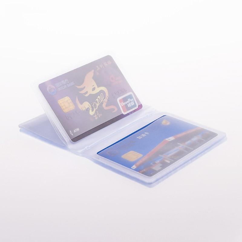 Держатель для визиток, прозрачный держатель для карты визиток из ПВХ, складной чехол для фотокарточек, корейский чехол, 1 шт.