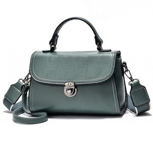 2021 New High Quality Fabric Women's Shoulder Bag Fashion Top Handle Messenger Small Square Handbags Ladies Good Pu Leather Bags