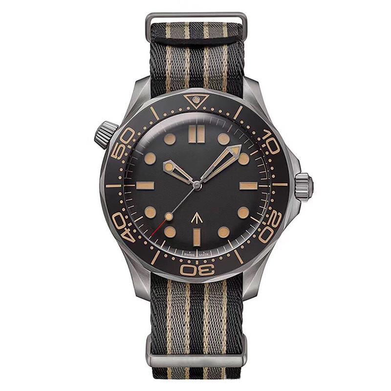 Masculino à Prova Água sem Tempo para Morrer Relógio Dwaterproof Relógios Masculinos Automáticos Edição Limitada Mestre James Bond 007 Diver 300m Assista Designer