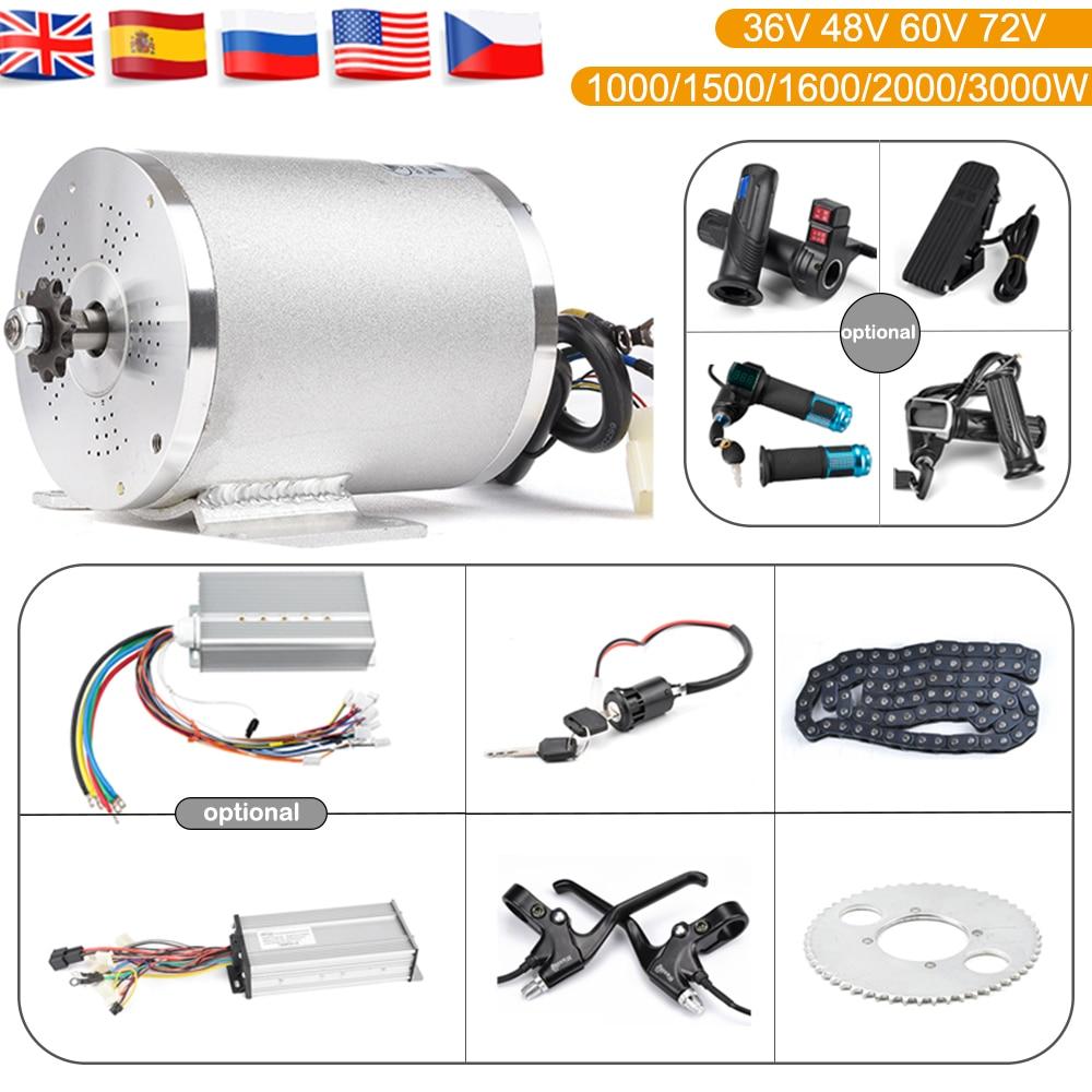 Scooter Eléctrico Kit de Motor eléctrico kart kit 1000W 3000W 48V-72V Motor eléctrico para Skateboard Ebike controlador de Motor 50A