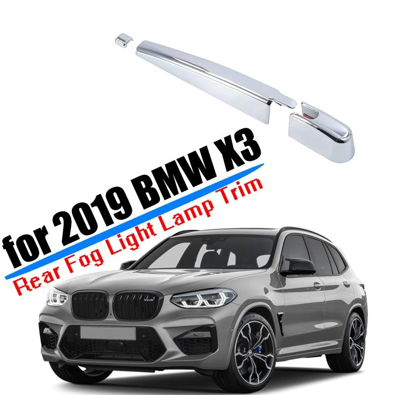Accesorios de coche aptos para 2018 2019 2020 BMW X3 G01 ventana trasera cubierta de limpiaparabrisas de plástico ABS estilo de coche plateado