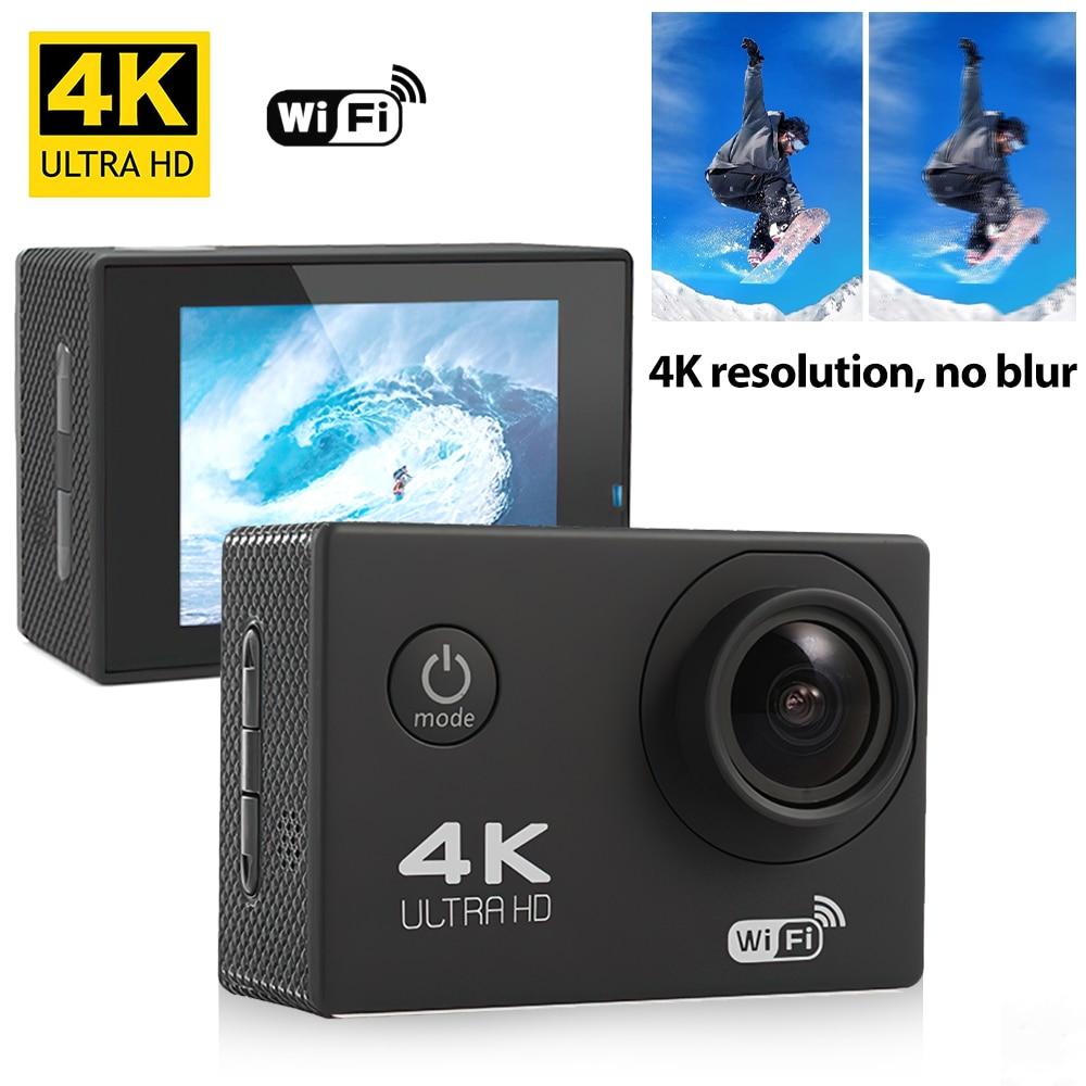 Action Camera Ultra HD 4K 30fps WiFi 2.0 inch 170D Underwater Waterproof Helmet Video Recording Camera Sport Driving recorder