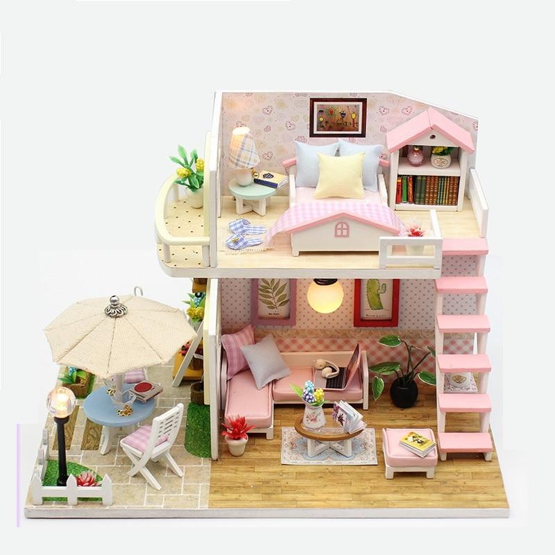 Miniature Dollhouse Lol-Doll Original Dollouse For Lols Toys Casa De Boneca DIY Educational Furniture Lol-House Toys