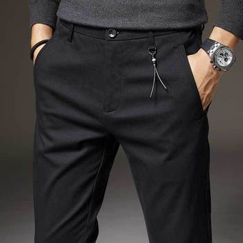 Winter New Work Pants Men's Business Casual Pants Korean Version of The Slim-fitting Tooling Trousers Trendy Calf Trousers