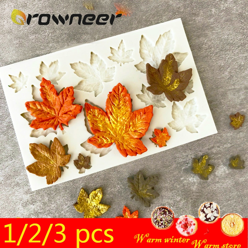 1/2/3Pcs 3D Silicone Baking Mold DIY Butterfly Maple Leaf Mould Chocolate Fondant Cake Decorating Tool Temperature Resistance