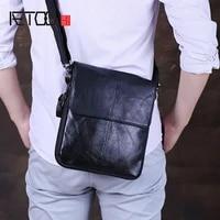 aetoo mad horse leather mens bag head leather slant bag business casual mens soft leather shoulder bag
