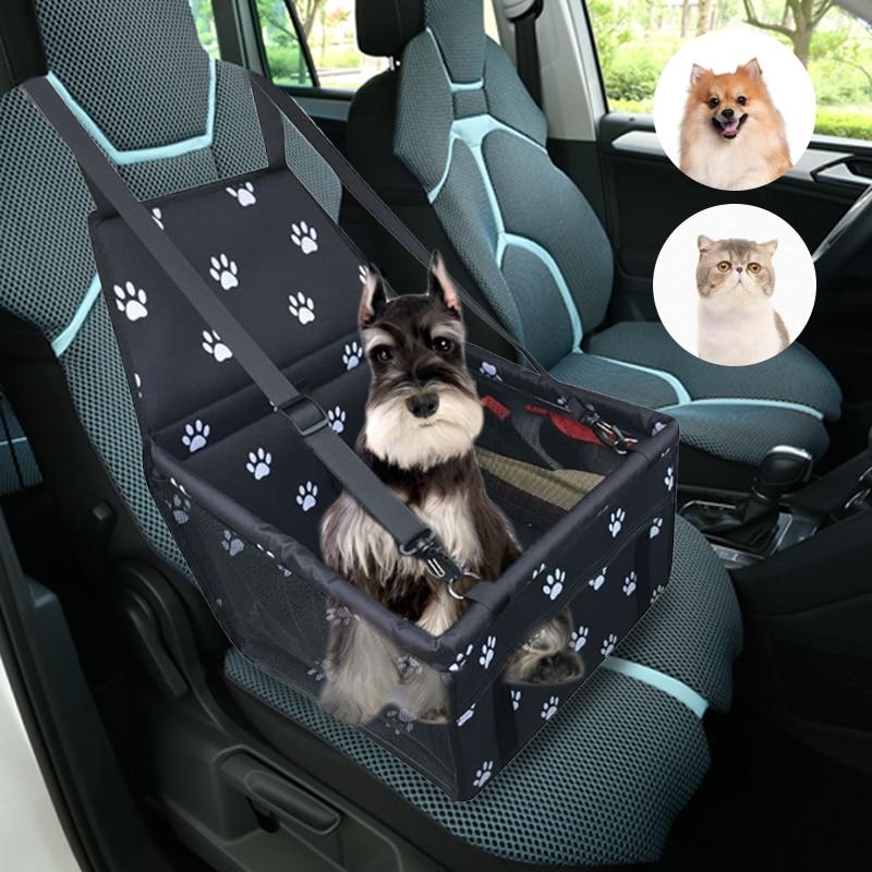 Dozzlor, protector plegable para asiento de coche para perros, bolsa de transporte para mascotas, malla transpirable, asiento de seguridad para cachorros, asiento de coche para mascotas, asientos delanteros