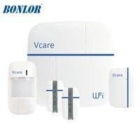 Ver D     systeme dalarme de securite domestique intelligent  multifonction  wi-fi  Gsm  Vcare 3