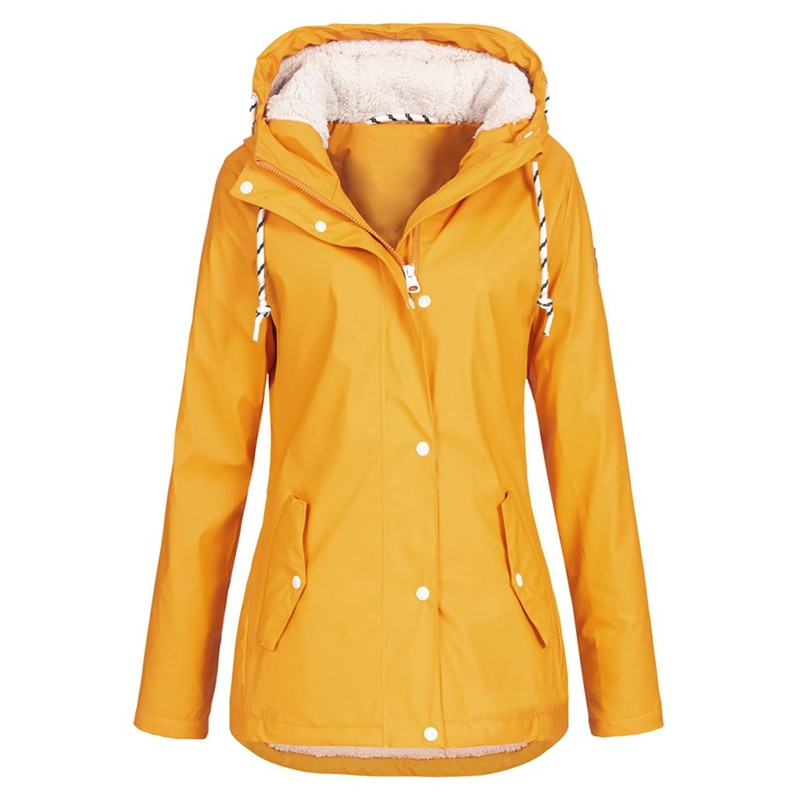 Feminino à prova de vento trench coat moda feminina sólida chuva ao ar livre roupas plus size à prova dwaterproof água com capuz solto casaco de chuva outwear