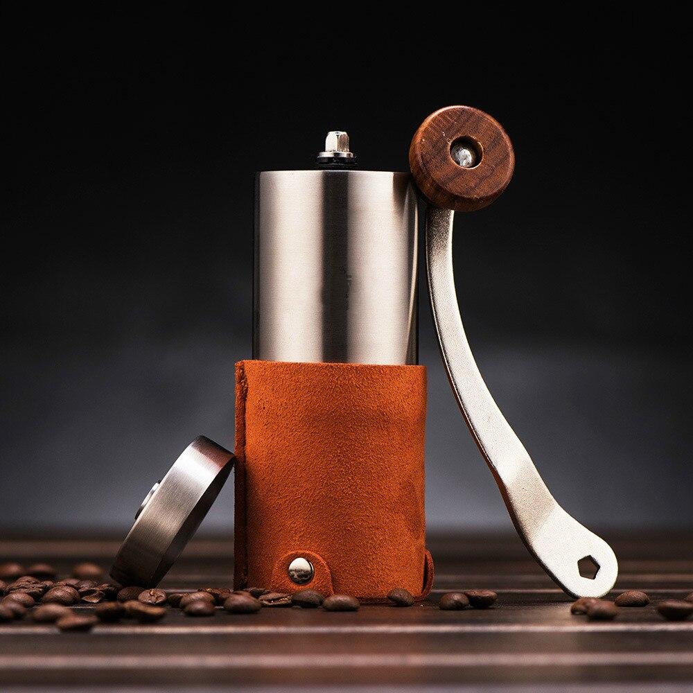 مطحنة قهوة محمولة متعددة الوظائف ، طراز حديث وبسيط ، أداة طحن لمسحوق القهوة والفلفل للاستخدام المنزلي