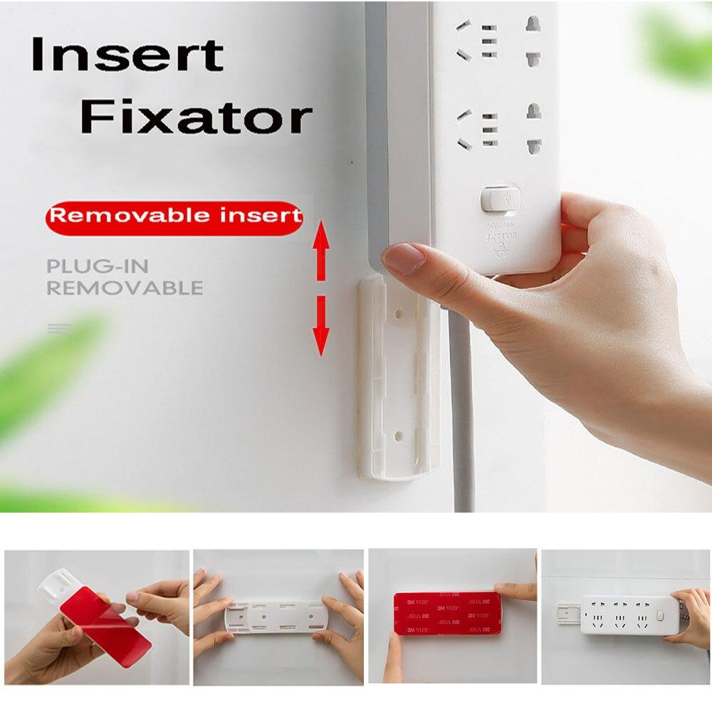 Soporte de etiqueta de enchufe sin perforaciones de 3CM sujetadores de tira de energía para pared soportes de almacenamiento para enchufes soportes de pared soporte para estante