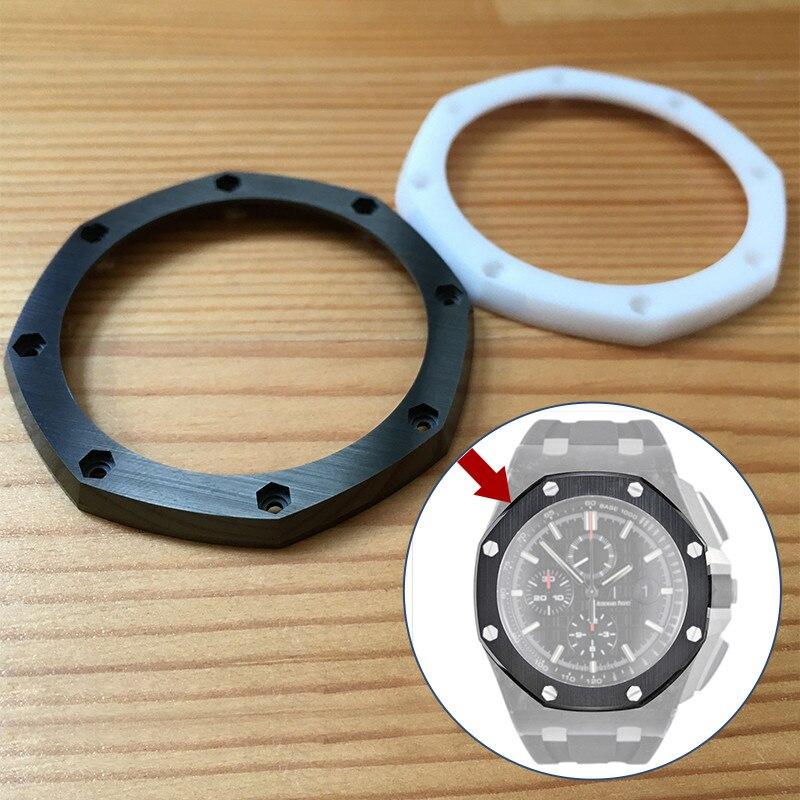 Bezel para ap Cerâmica Escovado Face Emars Piguet Roo 44mm Panda Relógio Original 26400 26401 Aud