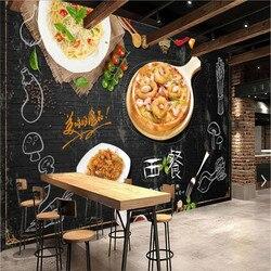 Personalizado em grande escala ocidental restaurante decoração industrial fundo da parede mural papel de parede 3d imagem texto pode ser mudado