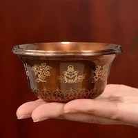 engraving buddhism brass drinking bowl 60ml tibetan tribute holy water cup large and small size buddhist bowl gift decorative