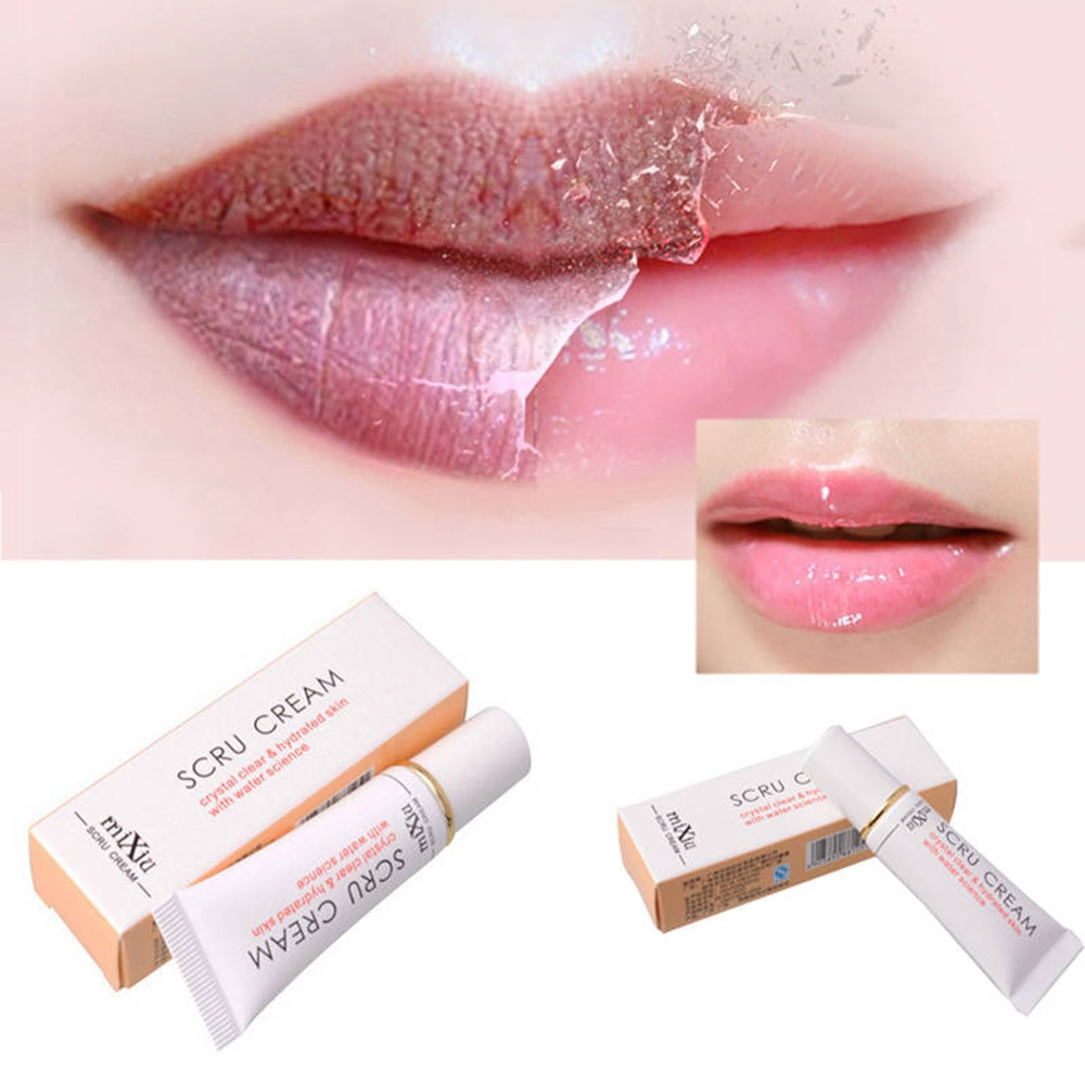 2017 new professional moisturizing full lips cosmetics remove dead skin mixiu brand lip care exfoliating lip scrub Protect Lip Plumper Anti Aging Lip Balm Remove Dead Skin Lip Balm Care Exfoliating Gel Lip Lightening Cream Lip Balm Cosmetics