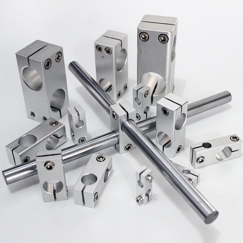 Braçadeira de fixação de pilar vertical diâmetro fixo fixação liga de alumínio eixo óptico bloco transversal tubo de aço apertar suporte