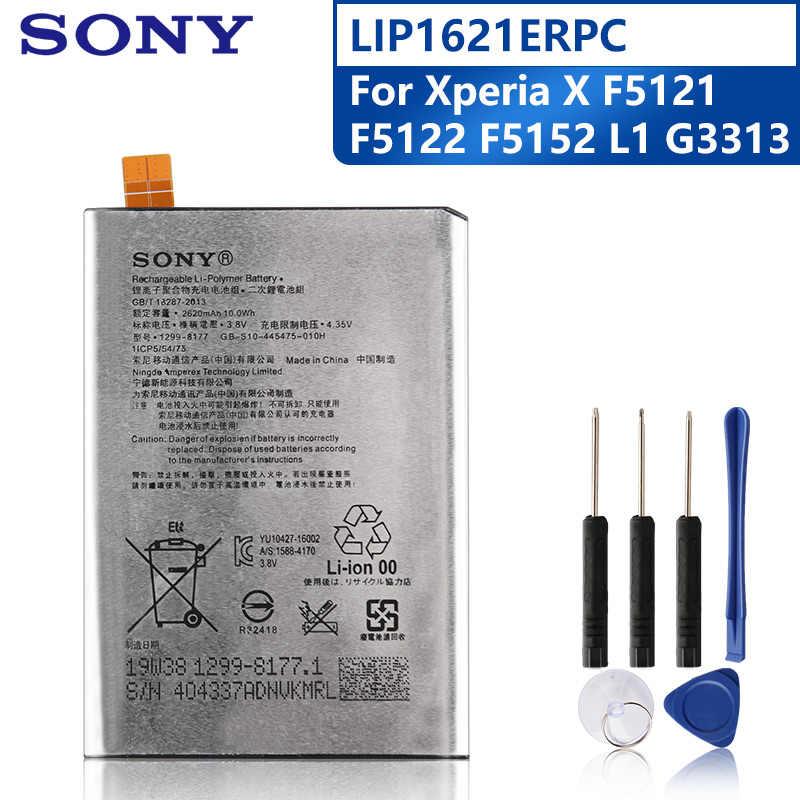 Sony Batería De Repuesto Original Para Móvil Pila Recargable De 2620mah Para Sony Xperia X L1 F5121 F5122 F5152 G3313 Lip1621erpc Baterías Para Teléfonos Móviles Aliexpress