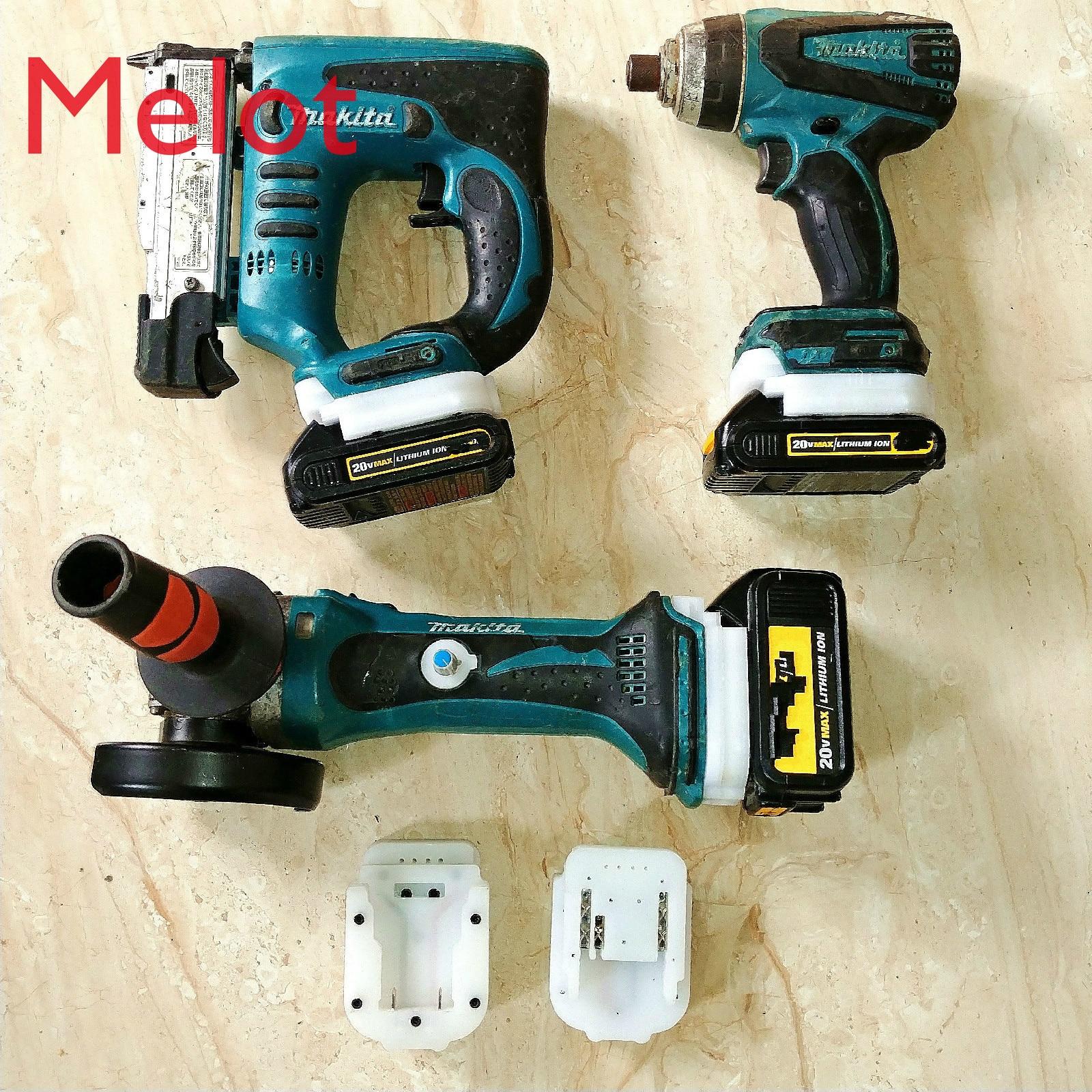18v20v lithium battery power tools use battery adapter, used for  DeWalt Bosch Makitae AGE 20v60v electric tools lithium battery enlarge