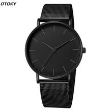 Men Simple Watches Quartz Wrist Watch Man Sport Analog Wristwatch Stainless Steel Casual Bracele Wat